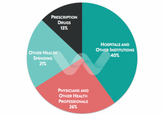 Chart Distribution of Health Spending in Canada